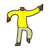 шуточный шарж указывая тело (шаржи смешивания и спички шуточные или добавляют Стоковые Изображения