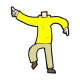 шуточный шарж указывая тело (шаржи смешивания и спички шуточные или добавляют Стоковое фото RF