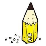 шуточный stub карандаша шаржа Стоковое Изображение