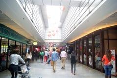 Шэньчжэнь, китаец: Ландшафт улицы еды Стоковые Фото