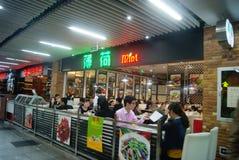 Шэньчжэнь, китаец: Ландшафт улицы еды Стоковое Изображение RF