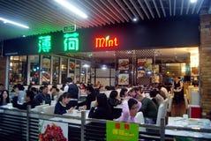 Шэньчжэнь, китаец: Ландшафт улицы еды Стоковые Изображения RF