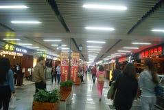 Шэньчжэнь, китаец: Ландшафт улицы еды Стоковое Фото
