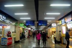 Шэньчжэнь, китаец: Ландшафт улицы еды Стоковое фото RF