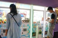 Шэньчжэнь, Китай: ландшафт залы билета кино Стоковое Изображение