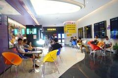 Шэньчжэнь, Китай: ландшафт залы билета кино Стоковая Фотография