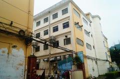 Шэньчжэнь, Китай: Возникновение здания промышленного парка и фабрики Стоковое Фото