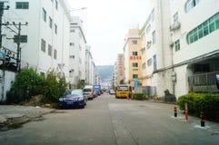 Шэньчжэнь, Китай: Возникновение здания промышленного парка и фабрики Стоковое фото RF