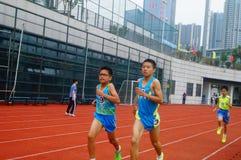 Шэньчжэнь, Китай: выбор спортсменов легкой атлетики элиты в основном и средних школах Стоковые Изображения RF