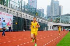 Шэньчжэнь, Китай: выбор спортсменов легкой атлетики элиты в основном и средних школах Стоковое фото RF