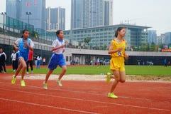 Шэньчжэнь, Китай: выбор спортсменов легкой атлетики элиты в основном и средних школах Стоковая Фотография