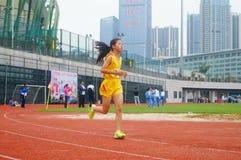 Шэньчжэнь, Китай: выбор спортсменов легкой атлетики элиты в основном и средних школах Стоковые Фото