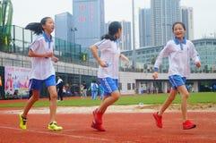 Шэньчжэнь, Китай: выбор спортсменов легкой атлетики элиты в основном и средних школах Стоковое Изображение RF