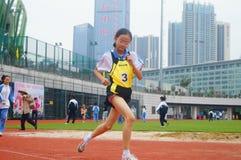 Шэньчжэнь, Китай: выбор спортсменов легкой атлетики элиты в основном и средних школах Стоковые Фотографии RF