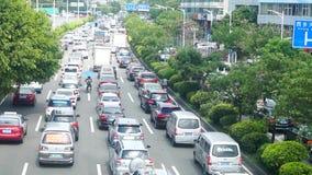 Шэньчжэнь, Китай: Затор автомобиля в бульваре Baoan акции видеоматериалы