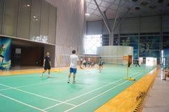 Шэньчжэнь, Китай: играть бадминтон Стоковые Изображения RF