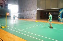 Шэньчжэнь, Китай: играть бадминтон Стоковое Изображение