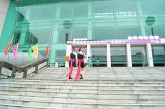 Шэньчжэнь, Китай: массы женских актеров Стоковые Изображения RF