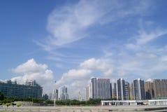 Шэньчжэнь, Китай: Парк площади портового района Стоковая Фотография RF