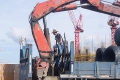 Шэньчжэнь, Китай: строительная площадка крана башни Стоковое Изображение RF