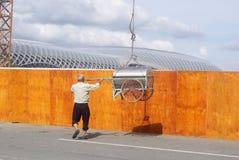 Шэньчжэнь, Китай: строительная площадка крана башни Стоковое Изображение