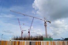 Шэньчжэнь, Китай: строительная площадка крана башни Стоковая Фотография