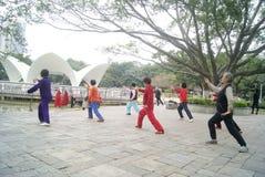 Шэньчжэнь, Китай: Taijiquan стоковое изображение
