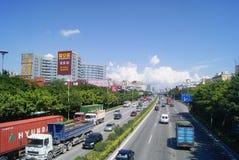 Шэньчжэнь, фарфор: ландшафт дорожного движения соотечественника 107 Стоковая Фотография RF