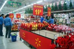 Шэньчжэнь, фарфор: продажи товара рождества Стоковое Фото