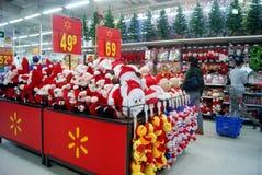 Шэньчжэнь, фарфор: продажи товара рождества Стоковая Фотография