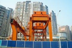 Шэньчжэнь, фарфор: строительная площадка метро Стоковое Изображение RF