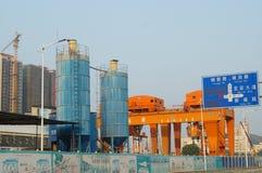 Шэньчжэнь, фарфор: строительная площадка метро Стоковые Изображения