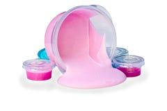 Шлам isolaed на белизне Шлам был изготовленным продуктом игрушки проданный стоковые фото