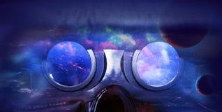 Шлемофон виртуальной реальности взгляда Стоковые Изображения RF