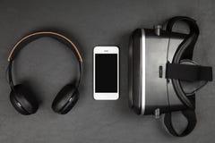 Шлемофон виртуальной реальности стоковое фото