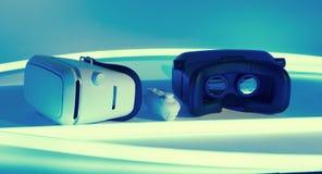 Шлемофон VR и регулятор игры Стоковое Изображение RF