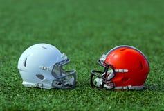 шлемы американского футбола Стоковые Изображения RF
