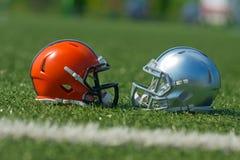 шлемы американского футбола Стоковое фото RF