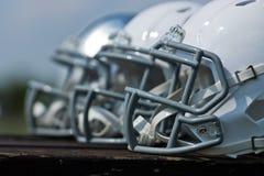 шлемы американского футбола Стоковая Фотография