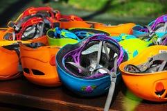 Шлемы парка приключения Стоковые Фотографии RF