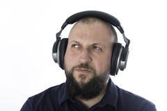 Шлемы человека музыки стоковое фото