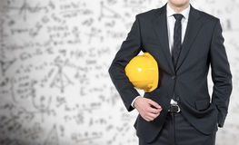 Шлем бизнесмена желтый Стоковое Изображение RF