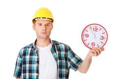 Шлем бизнесмена нося с часами Стоковые Изображения RF