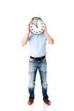 Шлем бизнесмена нося с часами Стоковая Фотография RF
