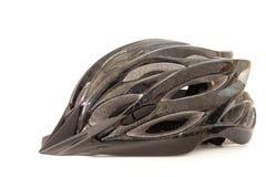 Шлем велосипеда на белой предпосылке Стоковые Фотографии RF