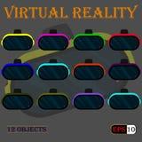 Шлем--виртуальн-реальность Стоковое Изображение