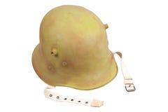 Шлем войск Stahlhelm немца Первая мировой войны Стоковая Фотография RF