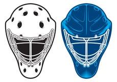 Шлем вратаря Оборудование хоккея Стоковая Фотография