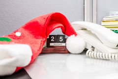 Шлем Дед Мороз Стоковые Фото