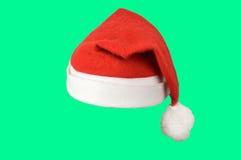 шлем изолировал santa Стоковая Фотография